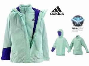 Adidas® Casaco 3 em 1   Corta Vento   Impermeável   Respirável   Tecnologia Climaproof®
