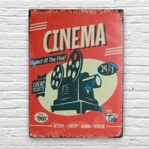 Chapa Cinema Vintage | 30 x 40 cm