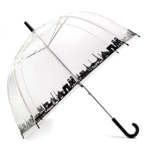 Guarda Chuva | Paris | Transparente de Grande Cobertura