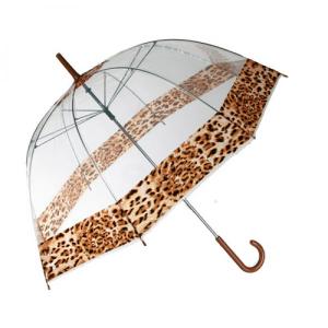 Guarda Chuva | Leopardo | Transparente de Grande Cobertura