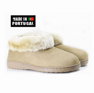 Pantufas Cor Camel Made in Portugal