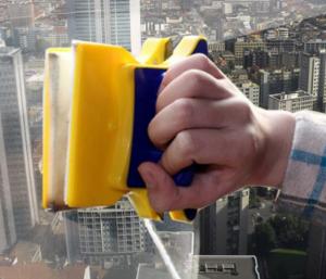 Esponja Magnética | Para limpar  Vidros por Dentro e por Fora ao Mesmo Tempo