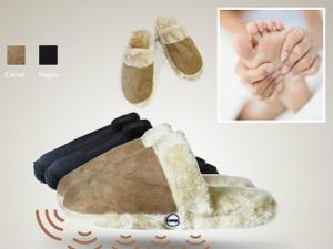 Chinelos com Vibração de Massagem | Botão On/Off Individual | Efeito Relaxante