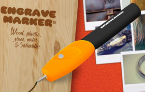 Engrave Marker® Grave em Metal | Plástico I Madeira I Couro