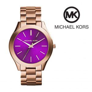 Relógio Michael Kors® Slim Runway Dourado & Roxo