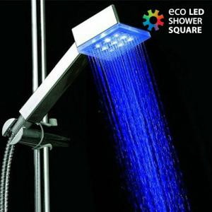 Chuveiro Eco Led Shower Quadrado | Muda de Cor com a Temperatura da Água