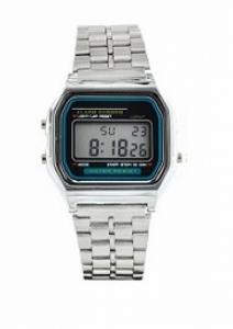 Relógio Mini Digital Retro Prateado