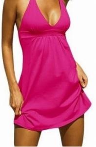 Vestido de Praia Super Sexy Tipo Victoria's Secret | Rosa