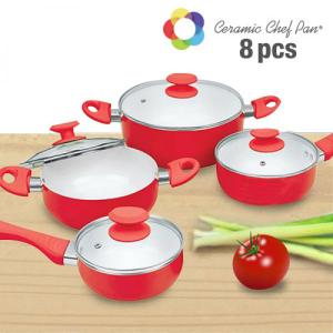 Trem de Cozinha de cerâmica Chef Pan | 8 Peças