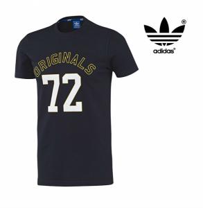 Adidas® Tshirt Slim Trefoil Azul Marinho