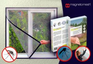 Pack 1 Rede Mosquiteira para Janelas   1 Cortina Magnética Anti - Insectos para Porta