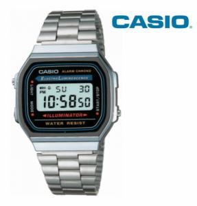 Relógio Casio® 168WA Prata