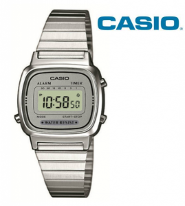 Relógio Casio® LA670 WA Prata | Cinza