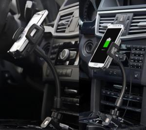 Suporte e Carregador de Smartphone para Carro Q-Max