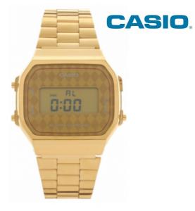 Relógio Casio® 168WG Dourado Losangos