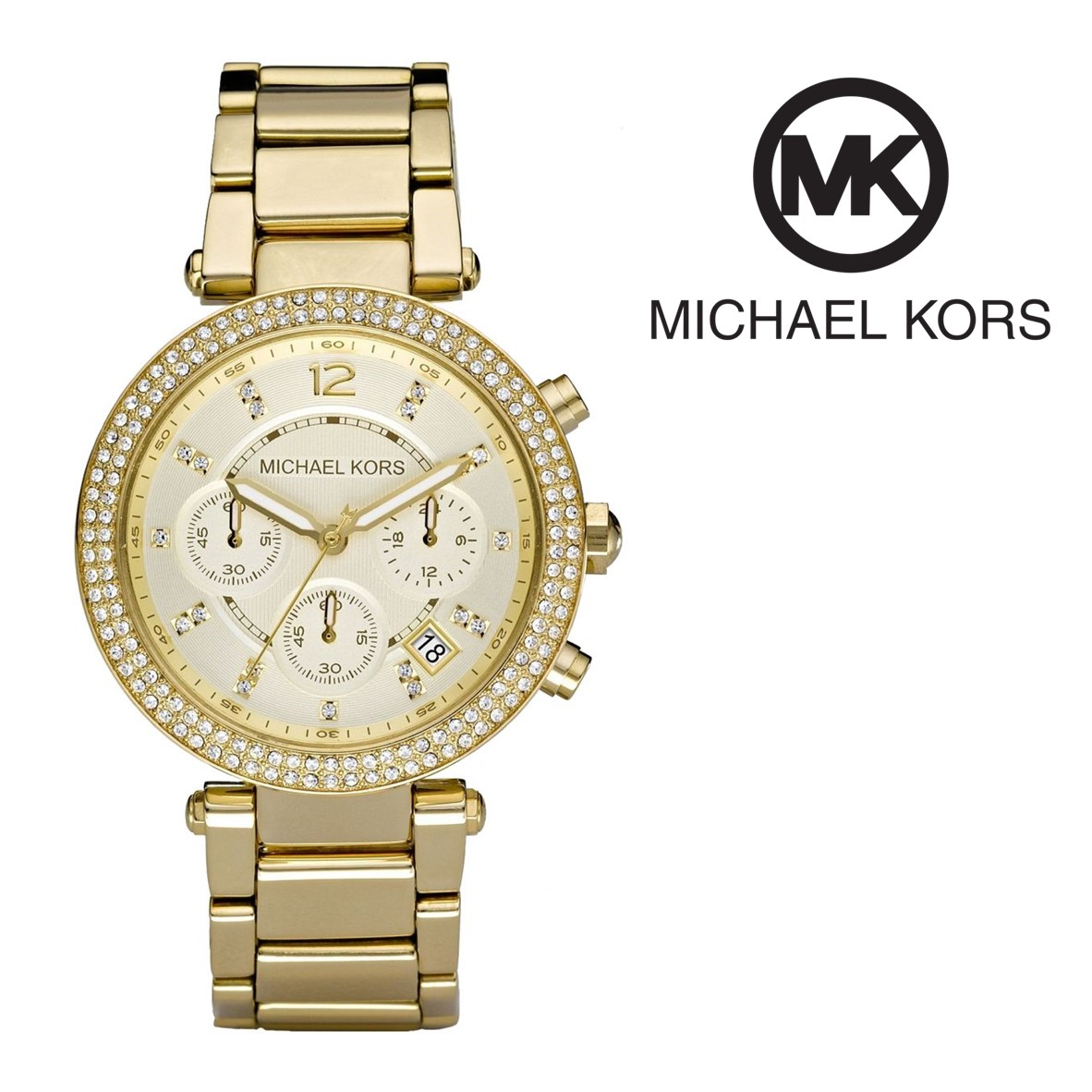 Relógio Michael Kors® Crystal Chronograph Champagne   5 ATM - You ... c4554e7980