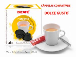 32 Cápsulas Bicafé | Compativeis Com Dolce Gusto Ristretto