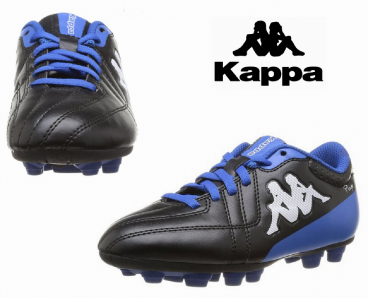 867481f07cfcb Zapatos de Fútbol Infantil Kappa Negro y Azul - You Like It