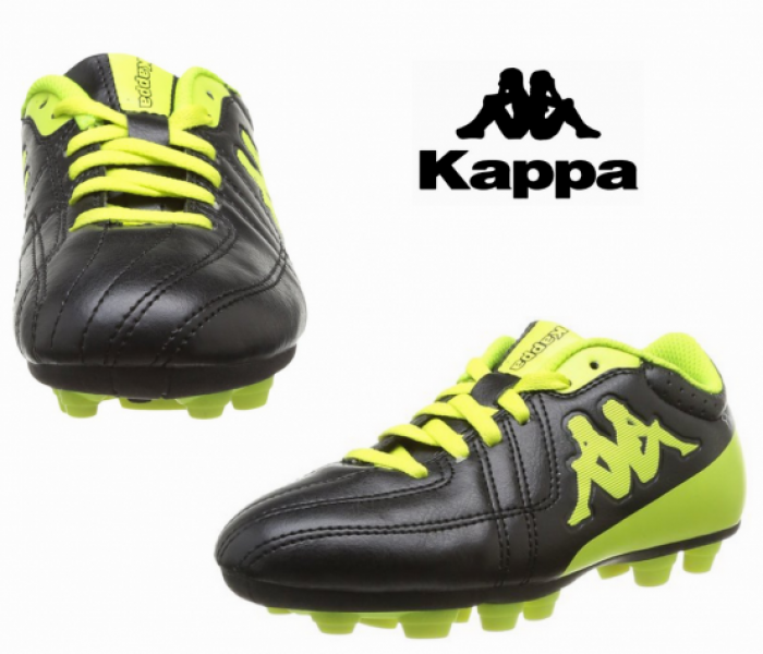 8e1214f22ff Kappa Soccer Shoes Junior Black and Yellow - You Like It
