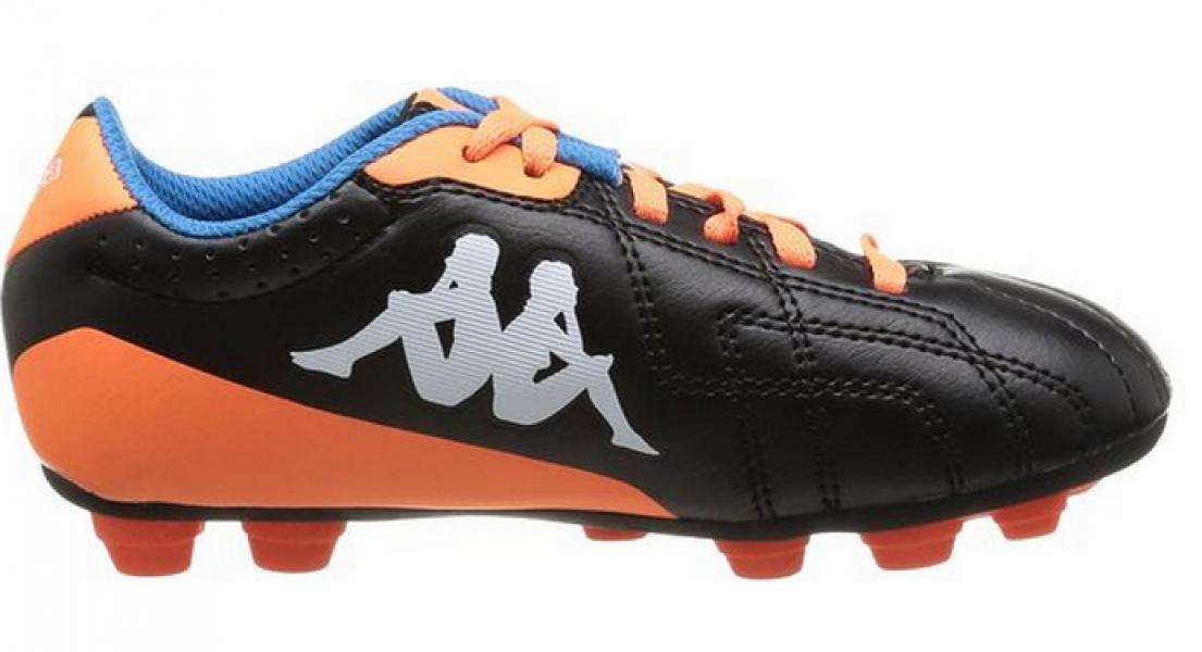 85f2991318443 Zapatos de Fútbol Infantil Kappa Negro y Naranja - You Like It