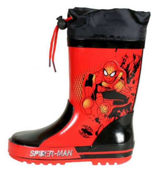 Botas de borracha com luzes 'Homem aranha'