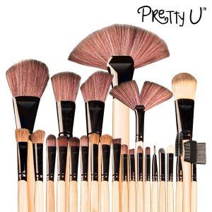 Conjunto 24 Pincéis de Maquilhagem Pretty-U ™