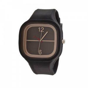 Relógio Bracelete Silicone Preto