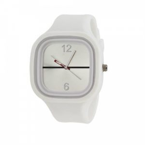Relógio Bracelete Silicone Branco