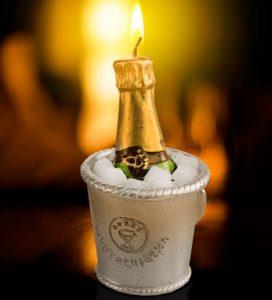 Vela Decorativa Champanhe