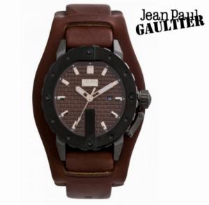 Relógio Jean Paul Gaultier® Bracelete em Pele Castanha | Data