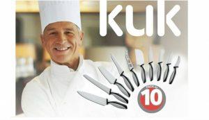 Conjunto Kuk 10 Facas de Cerâmica | Obtenha Um Corte Profissional, Recomendado Pelos Grandes Chefes de Culinária