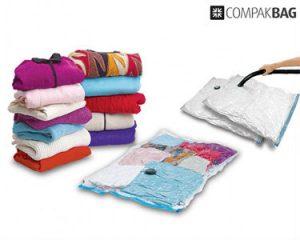 Pack 2 Compak Bag Sacos de Vácuo Para Roupa | Esqueça os Armários Cheios de Roupa Que Não Usa
