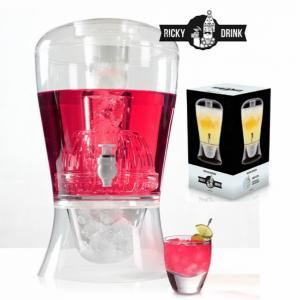 Ricky Drink | Dispensador de Bebidas Cocktail C/Deposito para Gelo Ideal para Festas e Comemorações