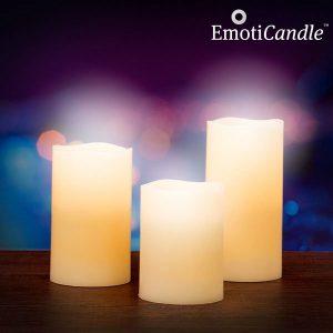 Velas Led Aroma de Baunilha com Sensor de Sopro | Pack 3 | EmotiCandle