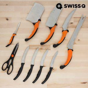 Swiss Q®  Conjunto de 10 Facas | Prático e Confortável de Usar Com Um Design Moderno e Elegante