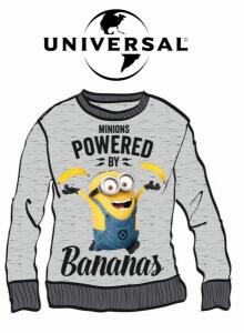 Minions | Camisola 100% Algodão Powered By Bananas | Produto Licenciado