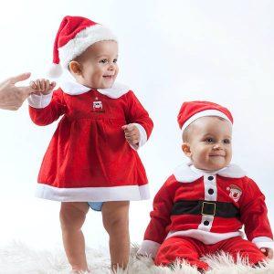 Fato de Natal Crianças | Para Menino e Menina | 12 - 18 Meses