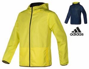 Adidas® Casaco Corta Vento Reversível | Amarelo E Azul Marinho
