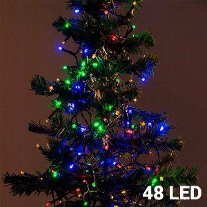 48 Luzes Multicolor Led | 8 Opções de Luz Para Interiores e Exteriores | Sem Ligação a Corrente | Comp 4 mts