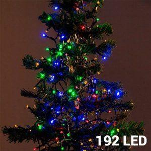 192 Luzes Multicolor Led | 8 Opções de Luz Para Interiores e Exteriores | Sem Ligação a Corrente | Comp 14,8 mts