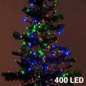 400 Luzes Multicolor Led | 8 Opções de Luz Para Interiores e Exteriores