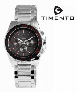 Relógio Timento Prata Preto 3ATM