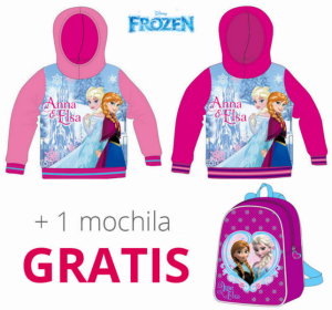 Frozen | Camisola Anna & Elsa C/Carapuço + Oferta Mochila | Produto Licenciado