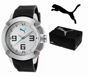 Puma® Cinza Com Bracelete Silicone I 10 ATM