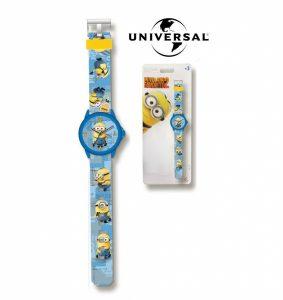 Minions | Relógio Analógico Azul | Produto Licenciado