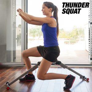 Thunder Squat | Máquina de Exercícios de Ginástica Funcional e para Treinar as Coxas, Glúteos e os Gémeos