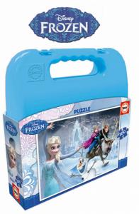 Frozen |  Puzzle 100 Pcs Com Mala | Produto Licenciado