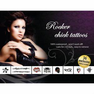 Adultos Maiores 18   36 Tattoos   Rocker Chick   Made In USA Processo Patenteado