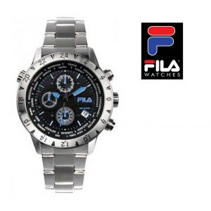 Relógio Fila® Casual Com Cronógrafo Preto | Azul | 10ATM
