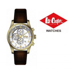 Relógio Lee Cooper® Bracelete em Pele Genuína LC-58G-D | 5ATM